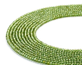 1 Strand Natural Faceted Peridot Loose Gemstone Jewelry Finding Rondelles Beads