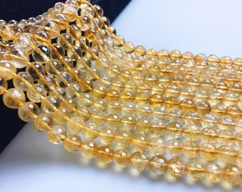 40 Pieces Approx Pear Beads 6x9-7x11mm Approx Citrine Faceted Beads 7 Inch Strand