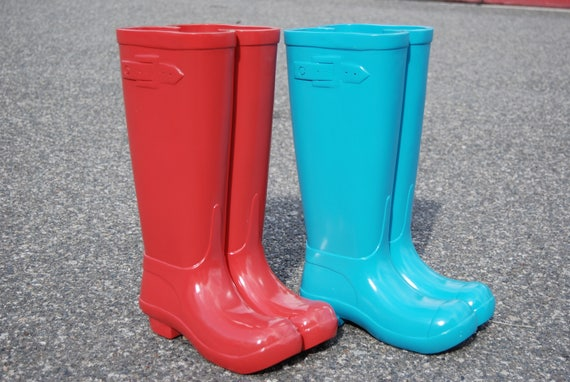 Red Blue Unique Solid Resin Boot Umbrella Holder Stand L Etsy