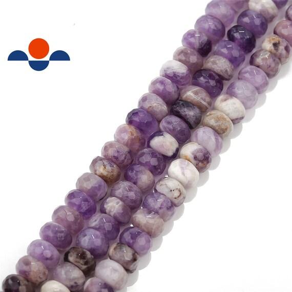 "Flower Jade Rondelle Beads Gemstone 15.5/"" Strand 4x6mm 5x8mm 6x10mm"