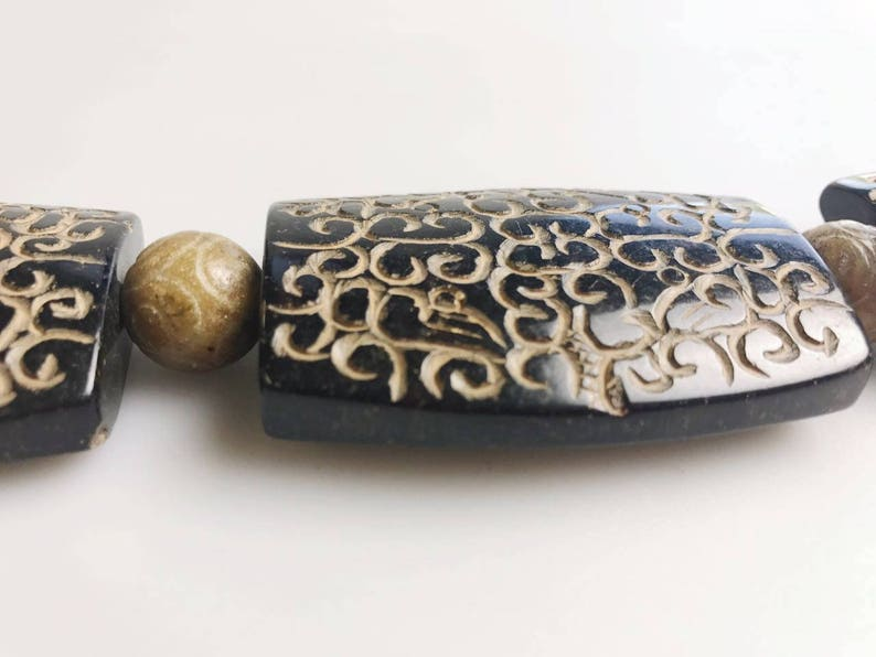 Hand Carved Tibetan Natural Jade Antique Pendant Approx 40x60mm Sold Per Piece