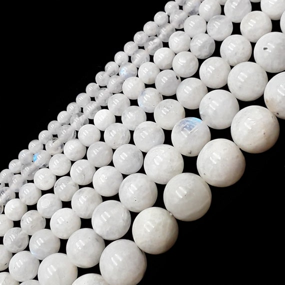 Beading Supplies White Beads Moonstone Great Flash 16 Strand of 4mm Smooth Round Rainbow Moonstone Beads #83 Bead Strands