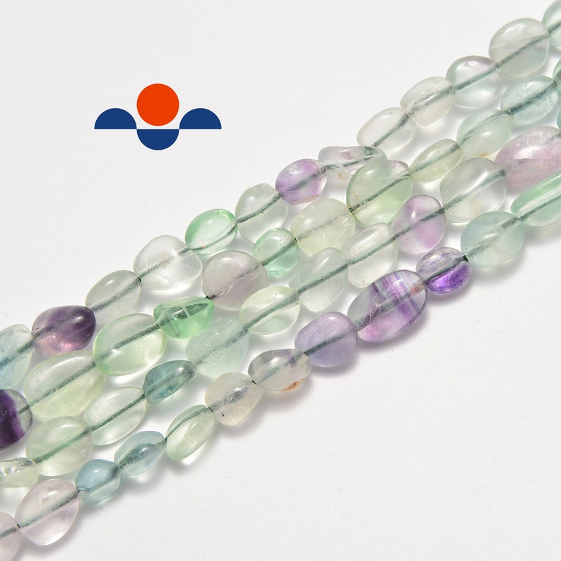 Natural Fluorite Nugget Approx 5-8mm 15.5 Strand image 0