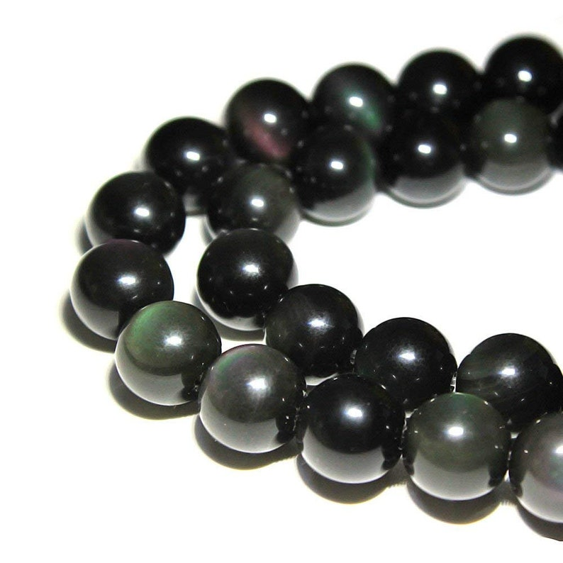 Rainbow Obsidian Smooth Round Size 4mm 6mm 8mm 10mm 12mm image 0