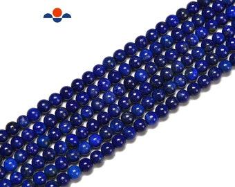 Natural Lapis Lazuli Smooth Round Beads Size 3-3.5mm 15.5'' Strand