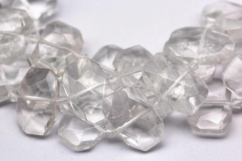 Crystal Quartz Faceted Rectangle Shape Size 15x20mm 15.5/'/' Strand