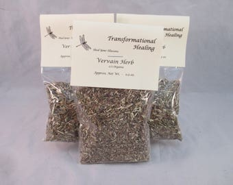 Vervain Herb - Org - c/s - Love, Offering, Psychic Attack, Create Healing, Magical, Spiritual, Metaphysical - Dee's Transformational Healing