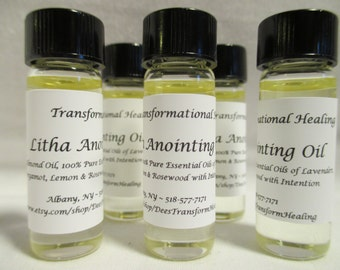 Litha / Summer Solstice Anointing Oil - 4 ML / 1 Dram - Ritual, Journey, Meditation, Dream, Wicca, Spiritual - Dees Transformational Healing
