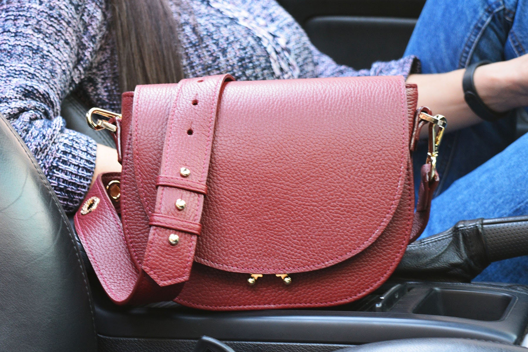 68a87d48c351 Round leather bag circle bag leather crossbody bag leather