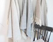 Handwoven Herringbone Throw. Wool. Blanket.
