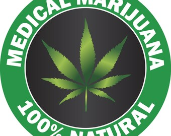 574896da2d9f P112 - Medical Marijuana Natural 420 Legal Weed Vinyl Decal Bumper Sticker