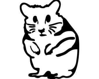 154 - Hamster Pet Any Size or Color Custom Cut Vinyl Decal Sticker