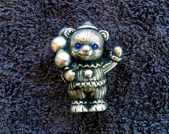 Carnival Bear with Balloons Desk Ornament/Paperweight by CustomMadeCastings .