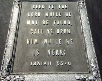 Bible Verse Isaiah 55:6 Wall Plaque/Paper Weight