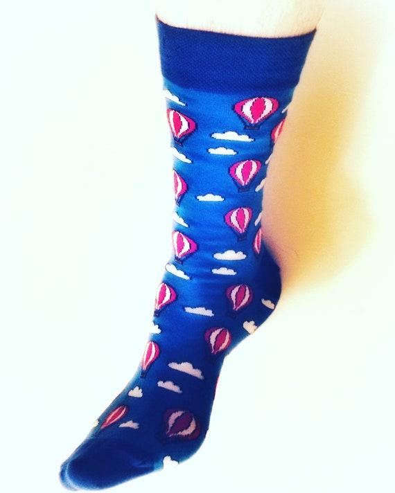01624607a1d2 Hot Air Socks Balloon Socks Men socks Colorful socks   Etsy