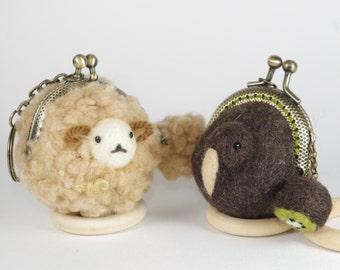 Sheep & Kiwi coin case set