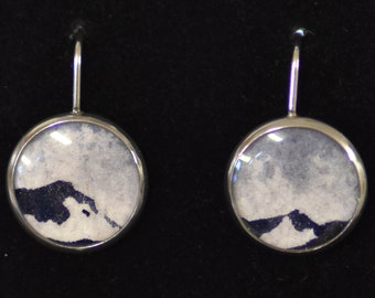 Clear to See - Original Painting EARRINGS (small)
