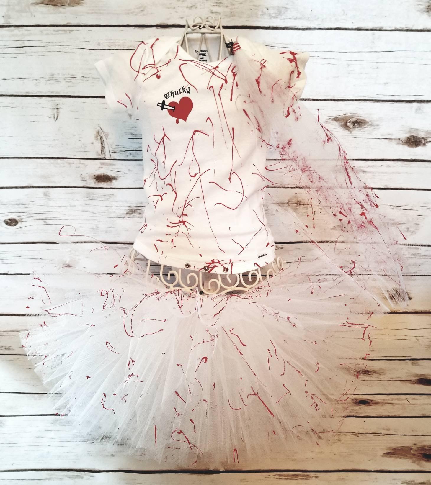 tiffany bride of chucky tutu halloween costume set with veil | etsy