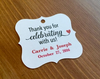 THANK YOU for celebrating with us Favor Tags,Wedding Favor Tags,Custom Favor Tags
