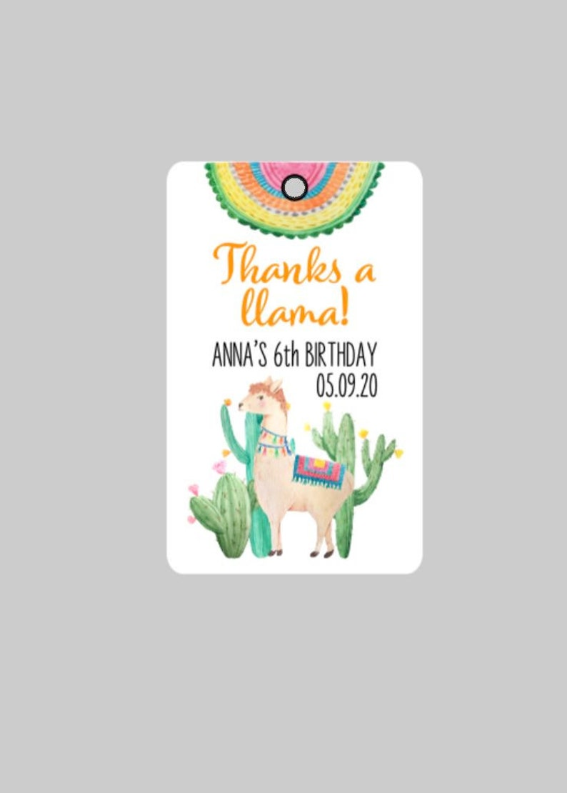 Llama Birthday Thank You Tags,Llama Party Tags,Thanks a llama Party Tags,Llama Birthday Favor Tags,Llama Tags,Thanks a llama!