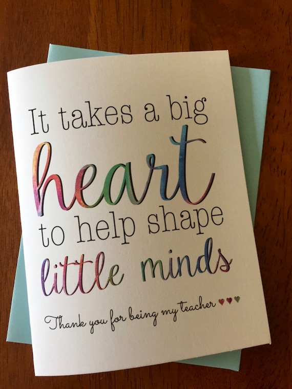 To my teacher greeting cardteacher thank you card it takes a etsy image 0 m4hsunfo