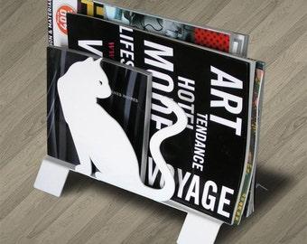The cats metal magazine rack