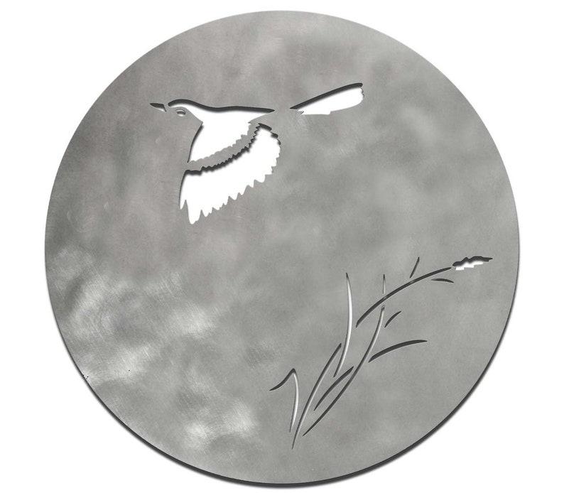 Bottom of dish Bird brushed stainless steel