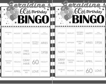 Personalized Birthday BINGO Card