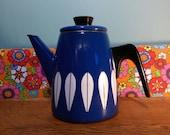 Vintage cathrineholm catherineholm enamel enamelware coffee pot teapot blue cathrine catherine Holm