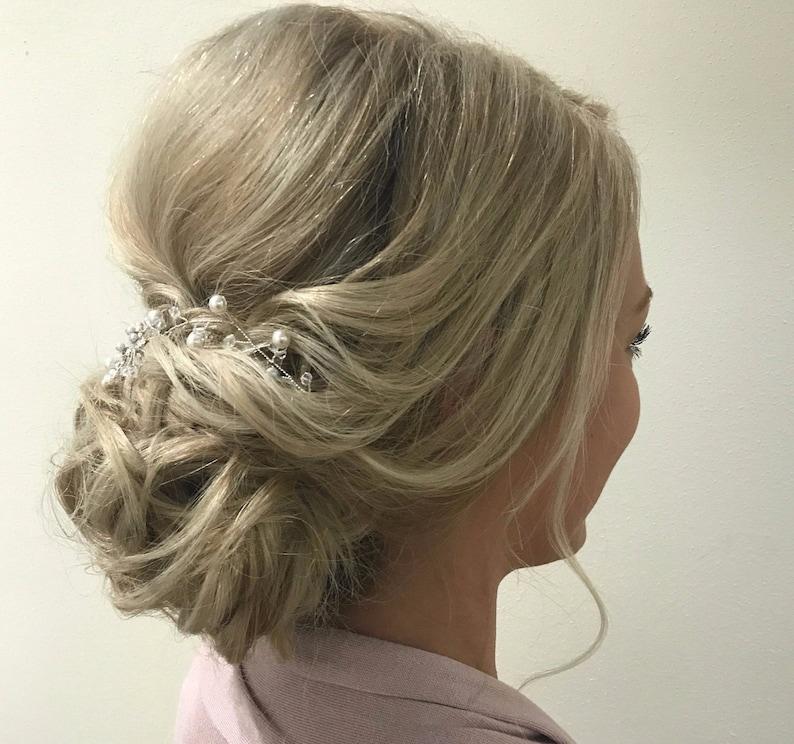 Wedding Hair Piece Pearl Wedding Hair Vine Bridal Hair Piece Pearl Bridal Hair Vine Bridal Head Piece Pearl Hair Vine Pearl and Crystal TIA