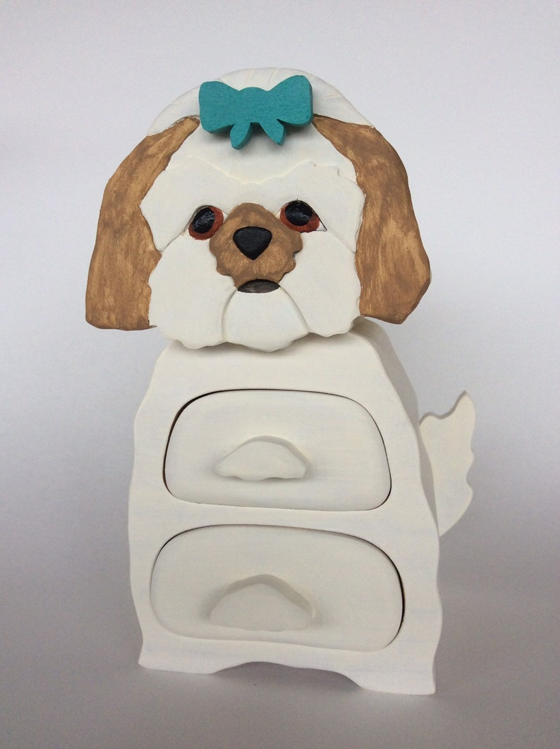 fur baby art dog lovers gift pet memorial memory box gift for him Shitzu pet sympathy gift Shih Tzu gift dog art Customized dog