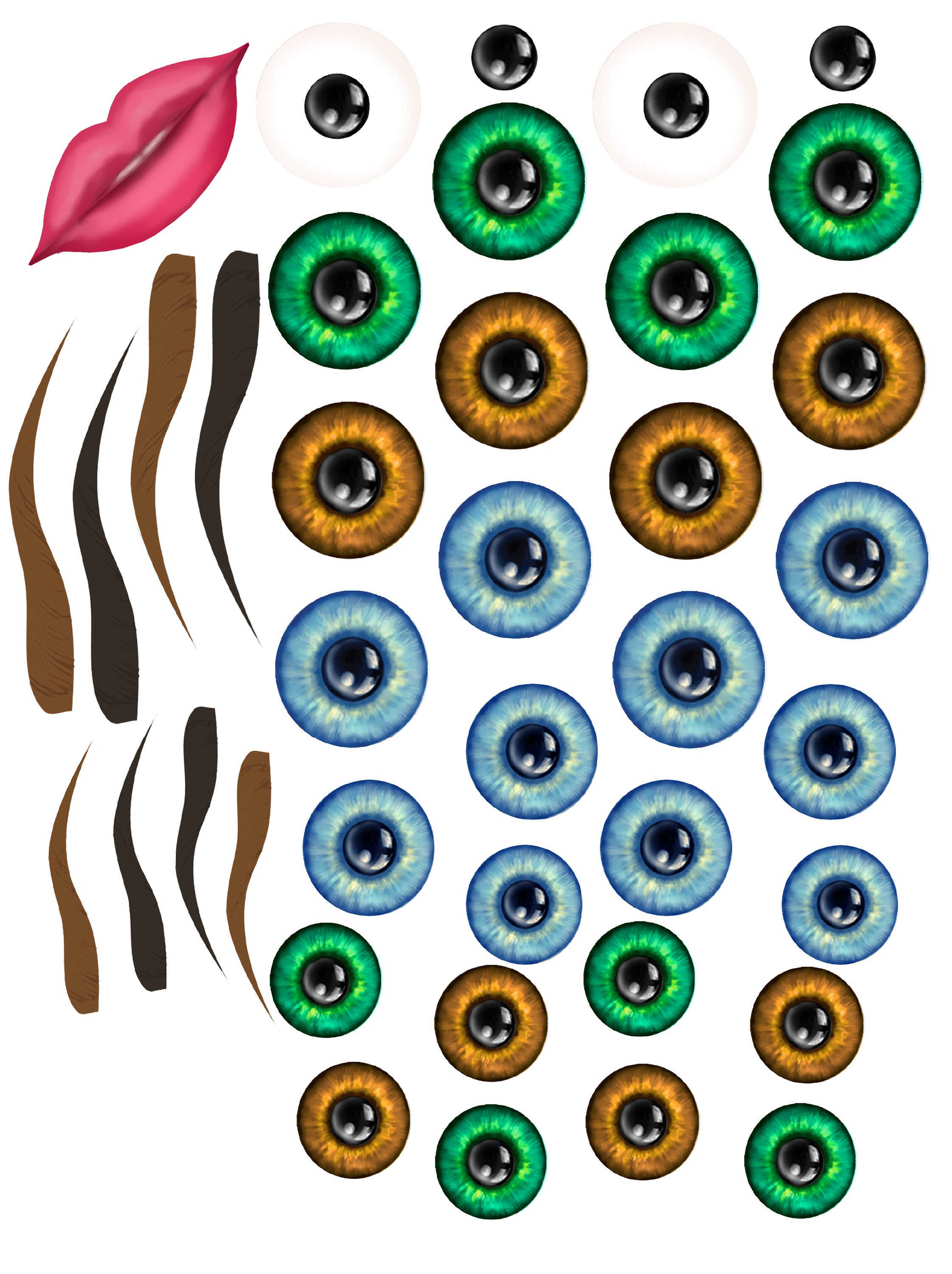 picture relating to Printable Eyes known as Printable Eye Irises for your Artistic Specifications