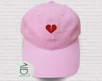 5a131c375d4 Heart Broken Embroidered Baseball Caps Dad Cap Heart Baseball Hat Cotton  Unisex Size Hats Pinterest Tumblr