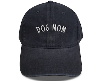 2fbfeaf87de Dog Mom Baseball Cotton Mother day Hat Unisex Cap Mom Caps Denim Cap Black Denim  Hat