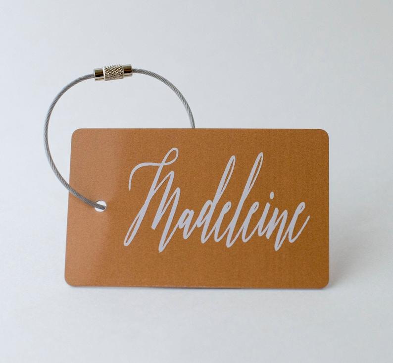 bd2695b5eb89 Custom Luggage Tag - FREE SHIPPING, Copper Personalized Luggage Tag, Bag  Tag, Back Pack Tag, Travel Gift, Luggage Tag Personalized