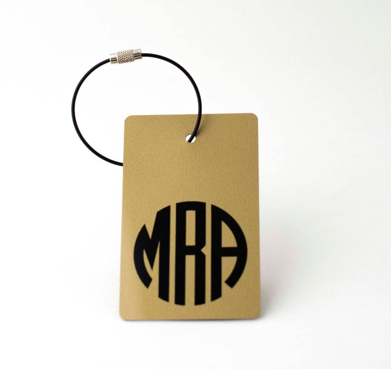 Luggage Tags 12 Tags Gold and Black Monogram Luggage Tag  0de4a27db928