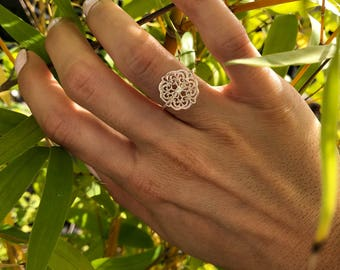 Ring in 925 sterling silver pattern