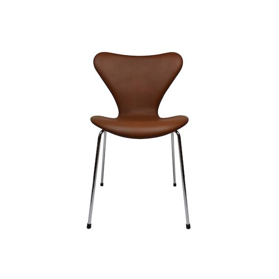 Arne Jacobsen 3107 Esszimmer Stuhl, hochwertige Nevada  Anilin-Leder-Polsterung, made in Dänemark
