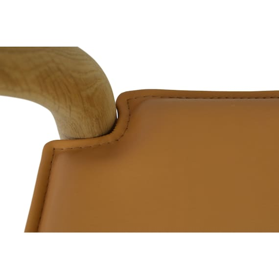 High quality reversible cushion for Hans Wegner CH24 wishbone chair, aniline leather, made in Denmark