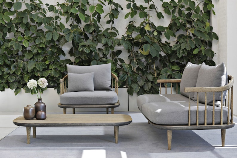 design by Nanna Ditzel for furniture upholstery Hallingdal wool and viscose fabric color 0390 from Kvadrat
