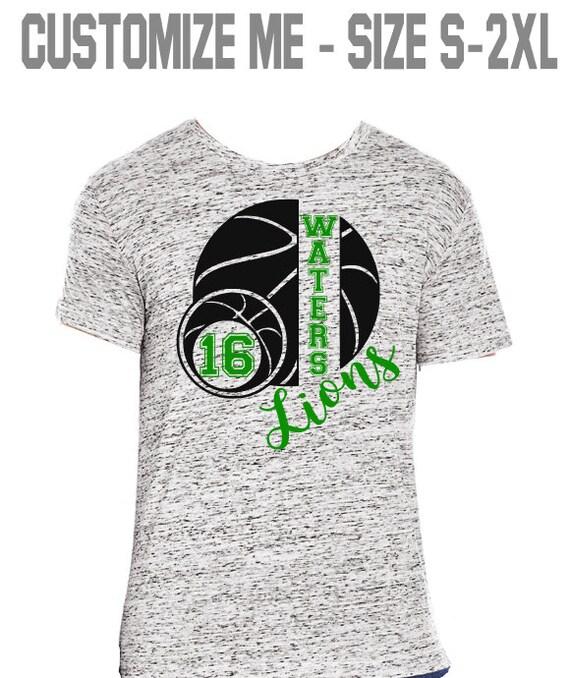 57fa1c2ea55 Personalized Basketball Shirt Basketball Mom Basketball Wife Game Day Shirt  High School Basketball Mom Shirt