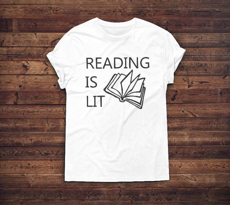 reading is lit shirt