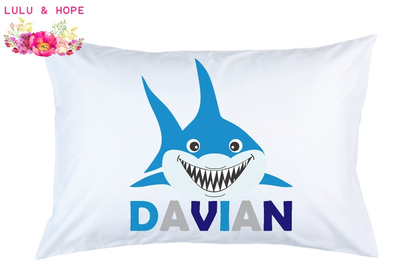 Shark Pillowcase Shark Personalized Pillowcase Shark Travel image 0