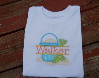 Beach bucket pail shirt