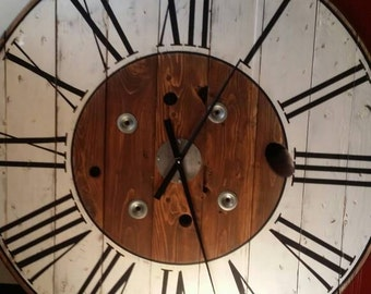 Spool Clock Etsy