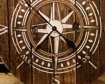 Spool Clock Etsy