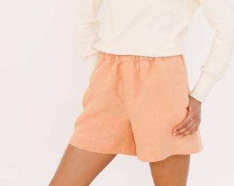 Peach hemp shorts EVA