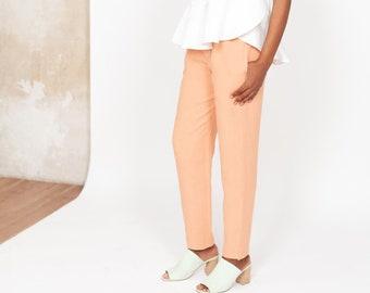 Peach Slim leg Hemp Pants CECIL