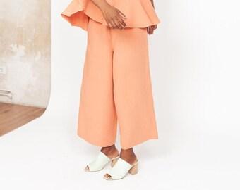 Peach wide leg pants TRIADIC