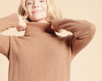 Eco friendly brown turtleneck sweater PARK